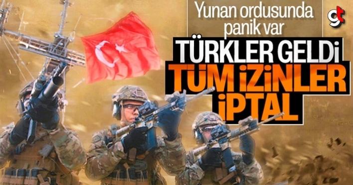 Yunanistan ordusunda, Türk ordusu korkusu