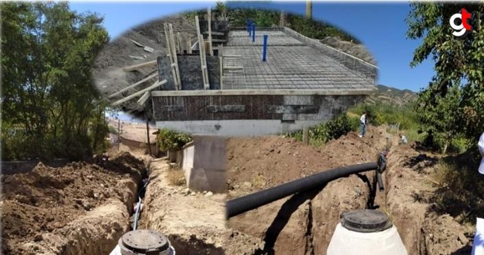 Amasya'da köylerde altyapı çalışmaları