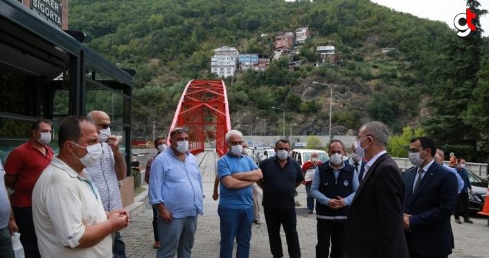 Artvin Valisi Yılmaz Doruk, Borçka'da Kovid-19 tedbirlerini denetledi