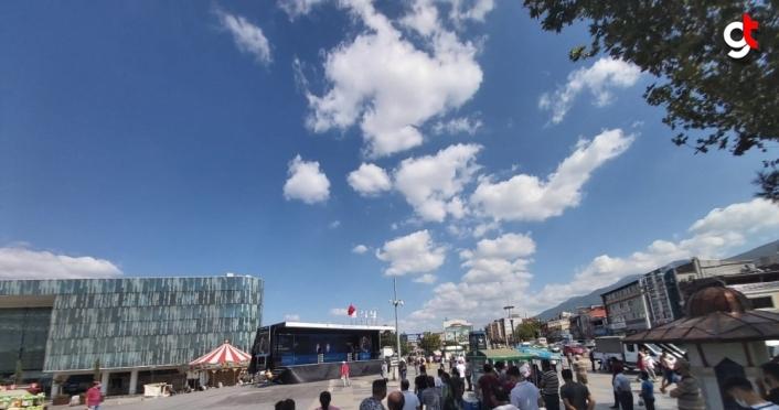 Dünya Dağ Bisikleti Maraton Şampiyonası'nın tanıtım tırı Türkiye turunda