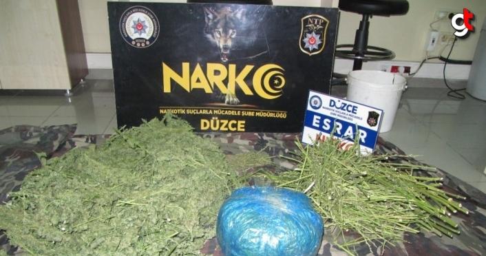 Düzce'de uyuşturucu operasyonlarında 3 kişi tutuklandı