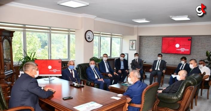 Eğitim öğretim değerlendirme toplantısı Vali Gürel başkanlığında yapıldı
