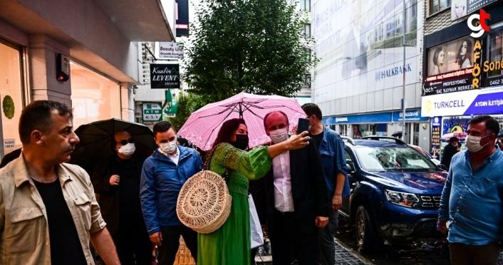 Eski CHP Milletvekili Muharrem İnce, Trabzon'da esnafı ziyaret etti
