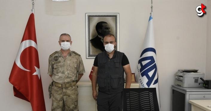 Gümüşhane Jandarma Komutanı Albay Gökçek'den AA'ya ziyaret