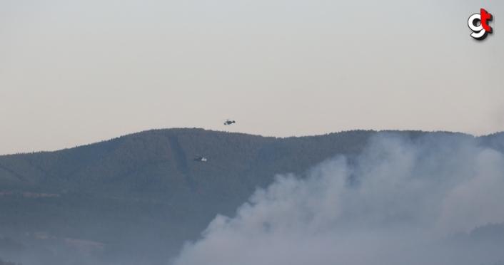 GÜNCELLEME - Kastamonu'daki orman yangınınına müdahale ediliyor