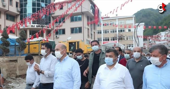 İçişleri Bakanı Soylu, Dereli'de incelemelerde bulundu