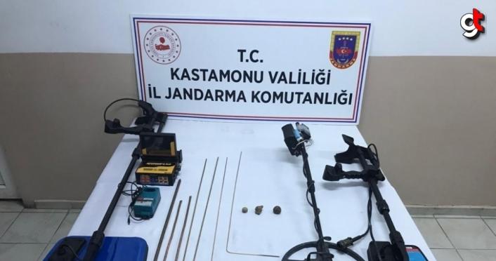 Kastamonu'da izinsiz kazı yapan 6 kişi gözaltına alındı
