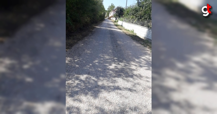 Köy yolunun asfaltlanmadığı iddiası