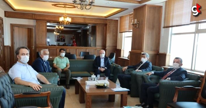 Samsun Üniversitesi Rektörü Prof. Dr. Mahmut Aydın'a ziyaretler