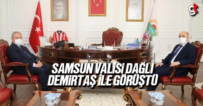 Samsun Valisi Zülkif Dağlı, İlkadım Belediye Başkanı Necattin Demirtaş ile görüştü