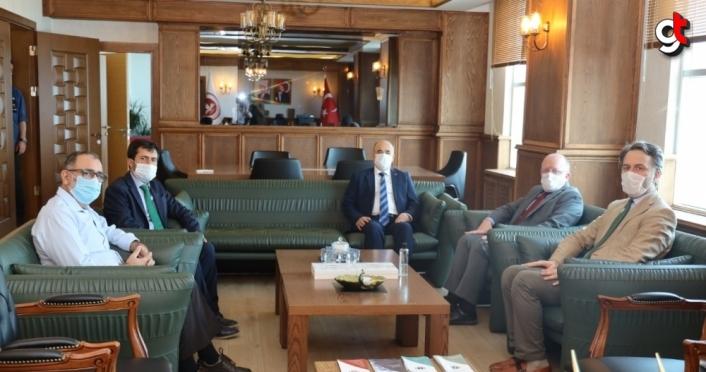 Samsun Valisi Zülkif Dağlı, Rektör Mahmut Aydın'ı ziyaret etti