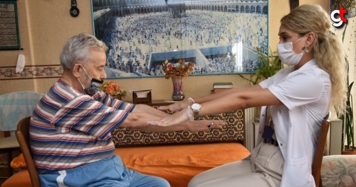 Samsun'da 65 yaş ve üzeri vatandaşlara evde