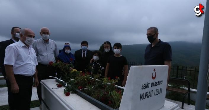 Şehit Başsavcı Murat Uzun, Samsun'da mezarı başında anıldı
