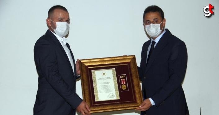 Sinop, Amasya, Tokat ve Çorum'da Devlet Övünç Madalyası Tevcih Töreni düzenlendi