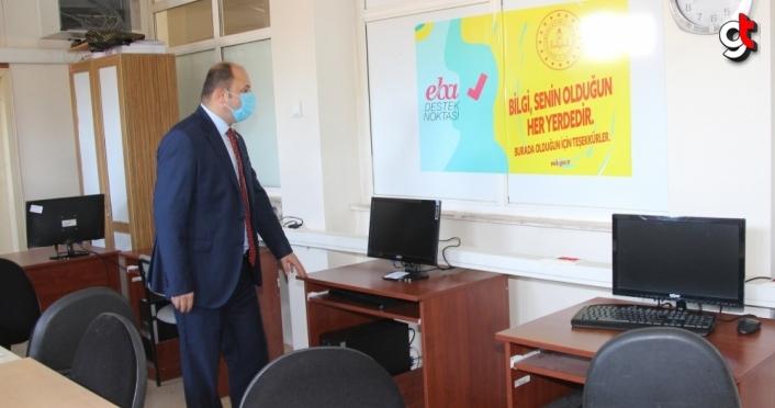 Taşova'da 5 okula EBA Destek Noktası kuruldu