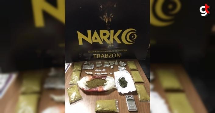 Trabzon'da uyuşturucu operasyonu: 4 gözaltı