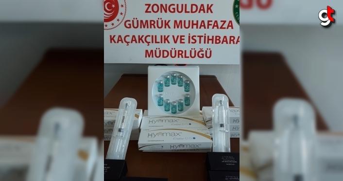 Zonguldak'ta gümrük kaçağı botoks malzemesi ve kozmetik eşya ele geçirildi