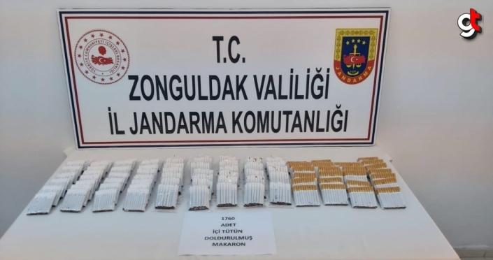 Zonguldak'ta kaçak sigara operasyonunda 1 kişi gözaltına alındı