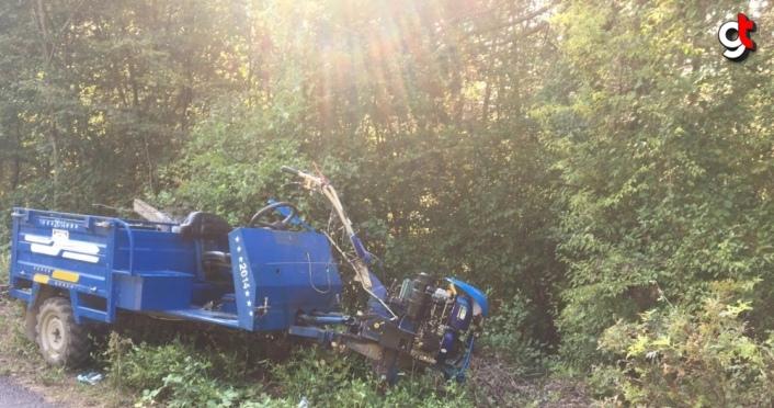 Zonguldak'ta tarım aracı devrildi: 1 ölü, 2 yaralı