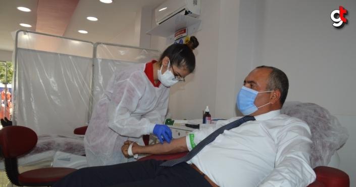 Çorum'da Türk Büro-Sen'den kan bağış kampanyası