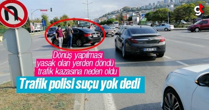Hatalı U dönüşü yapan araç kazaya neden oldu, polis suçsuz dedi