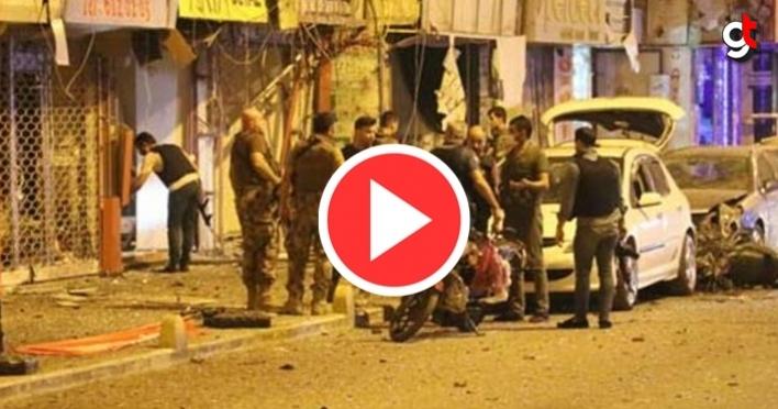 İskenderun PKK'lı terörist bomba patlattı, canlı bomba kendini patlattı, Polisler, PKKlı teröristler ile çatıştı Video görüntü