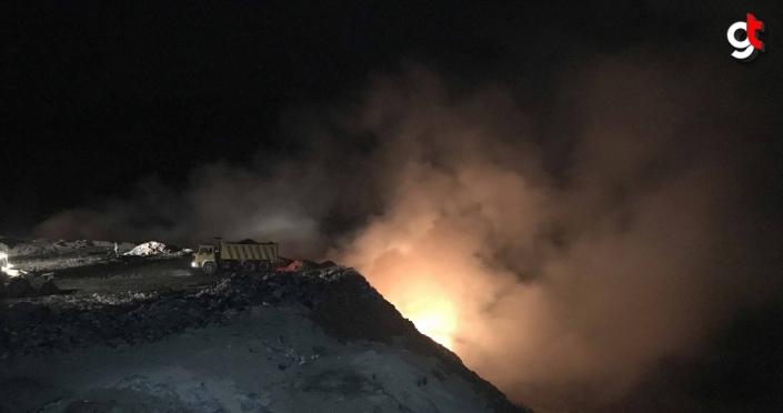 Karabük'te çöp toplama alanında çıkan yangın kontrol altına alındı