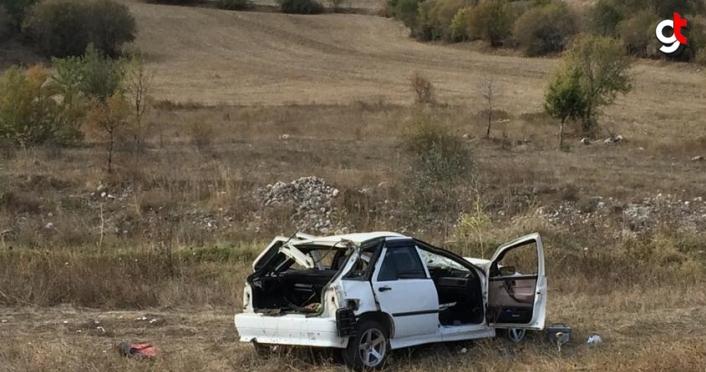 Karabük'te devrilen otomobildeki 4 kişi yaralandı