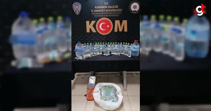 Karabük'te sahte içki sattığı iddiasıyla bir kişi yakalandı