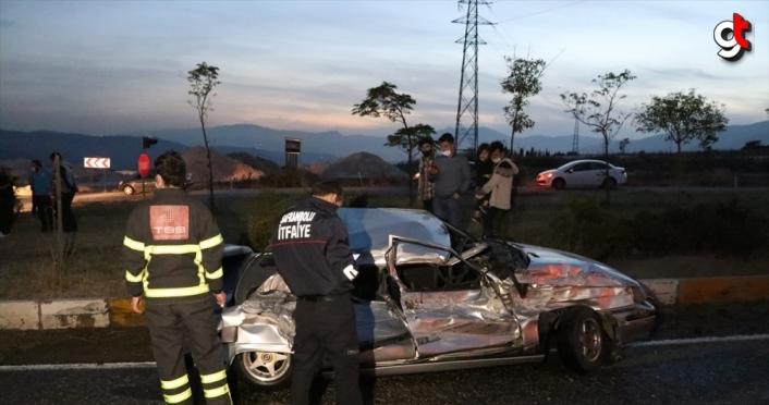 Karabük'te su tankeri ile otomobil çarpıştı: 2 yaralı