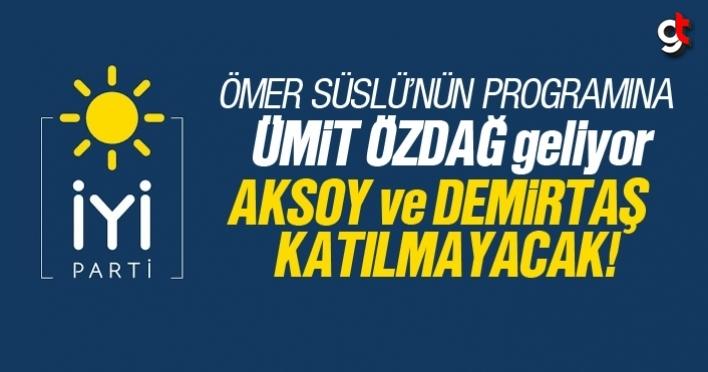 Ömer Süslü'nün kucaklaşma programına Demirtaş ve Aksoy katılmayacak