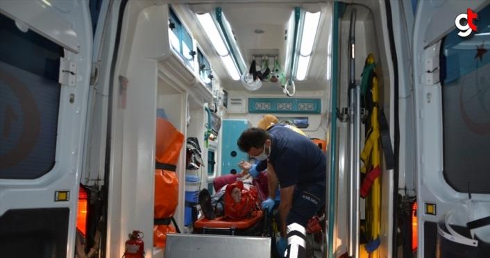 Ordu'da kabini takılmamış asansörü kullanan 5 işçi yaralandı