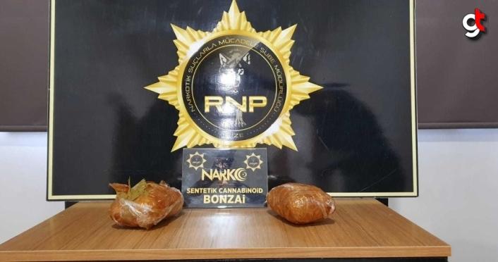 Rize'de 1 kilo 150 gram bonzai ele geçirildi