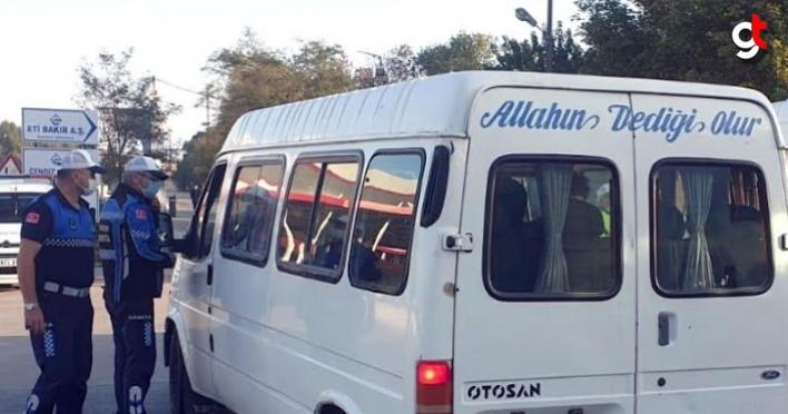 Samsun'da korsan servis araçlarına ceza