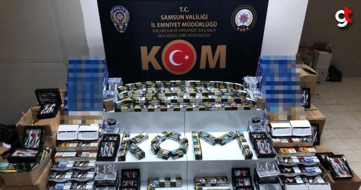Samsun İlyasköy mahallesindeki depoya baskın