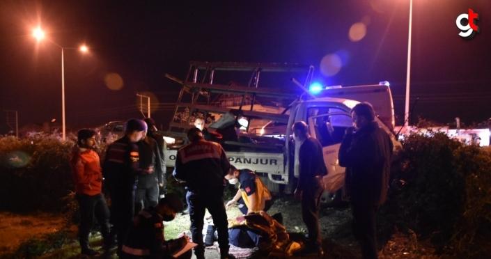 Samsun'da şarampole düşen kamyonetteki 2 kişi yaralandı