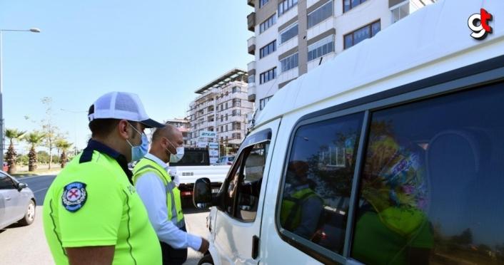 Trabzon Büyükşehir Belediyesi ekiplerinden trafik denetimleri