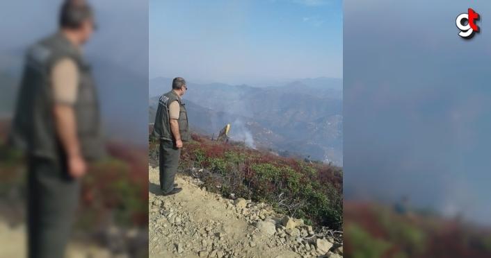 Trabzon'da iki farklı noktada örtü yangını meydana geldi