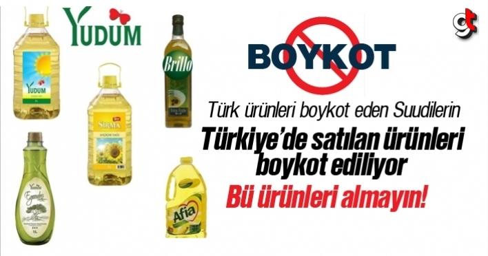 Türkiye'de satılan Suudi Arabistan ürünleri boykot ediliyor, ürünler hangileri?