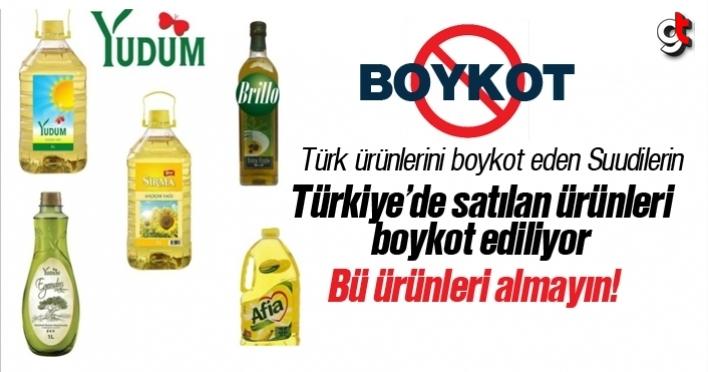 Türkiye'de satılan Suudi Arabistan ürünlerine boykot, Arabistan ürünleri hangisi?