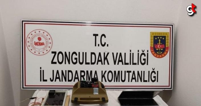 Zonguldak'ta izinsiz define arayan 6 kişi suçüstü yakalandı