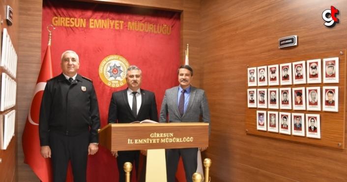 Alper ve Sırma'dan Giresun Emniyet Müdürü Aktaş'a ziyaret