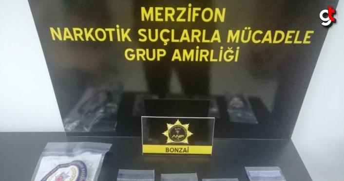 Amasya'da araçlarında uyuşturucu bulunan 3 kişi gözaltına alındı