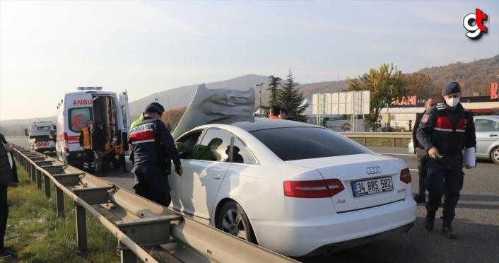 Anadolu Otoyolu'nda otomobil yayaya çarptı: 1 ölü, 2 yaralı
