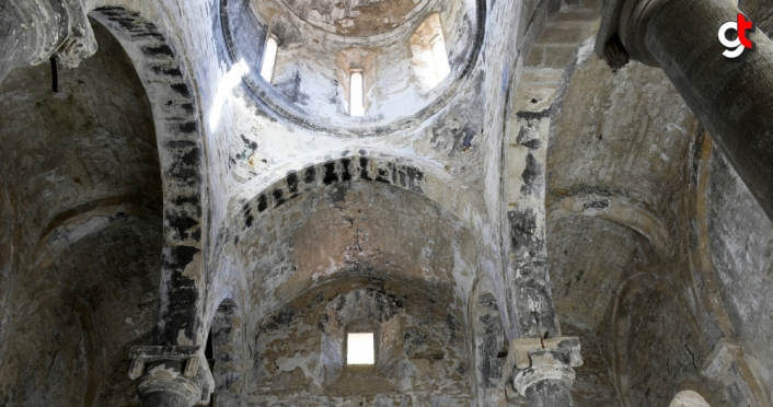 (Drone destekli) 670 yıllık İmera Manastırı'nda kısmi restorasyon tamamlandı