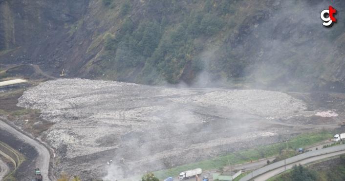 Giresun'da katı atık bertaraf tesisinde çıkan yangın söndürüldü
