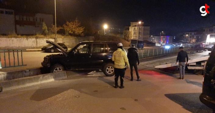 Karabük'te su kanalına düşen cipte 1 kişi yaralandı