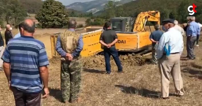 Kavak'ta hayvan gübresi kurutma ve arıtma tesisine vatandaşlardan tepki