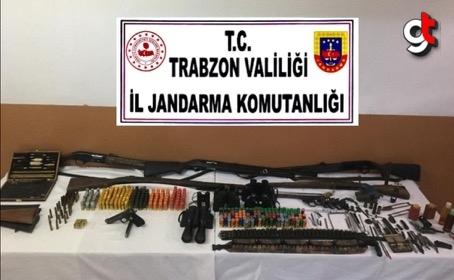 Trabzon'da silah ve mühimmat kaçakçılığı