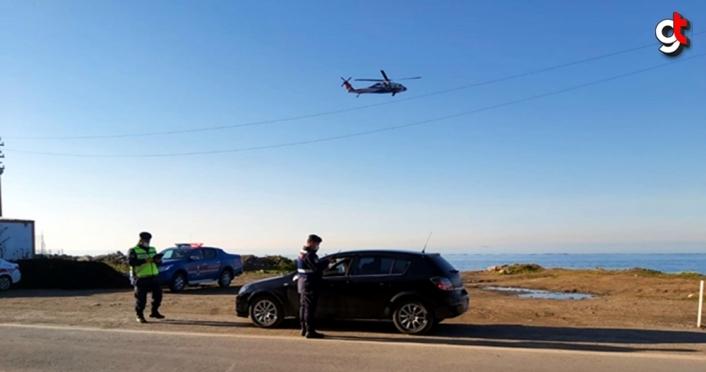 Zonguldak'ta helikopter destekli trafik denetimi yapıldı